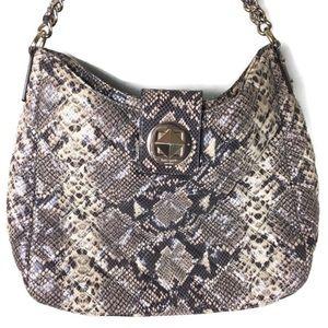 Kate Spade Janica Quilted Snake Print Shoulder Bag